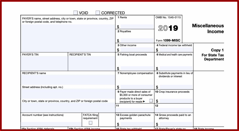 Federal Tax Return Form 1099 Sa