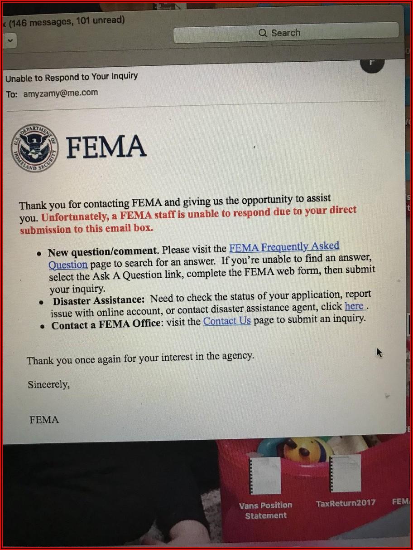 Fema Online Form