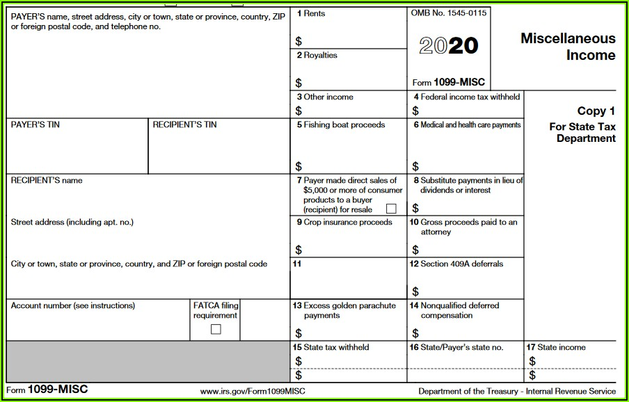 Filing 1099 Forms In Oregon