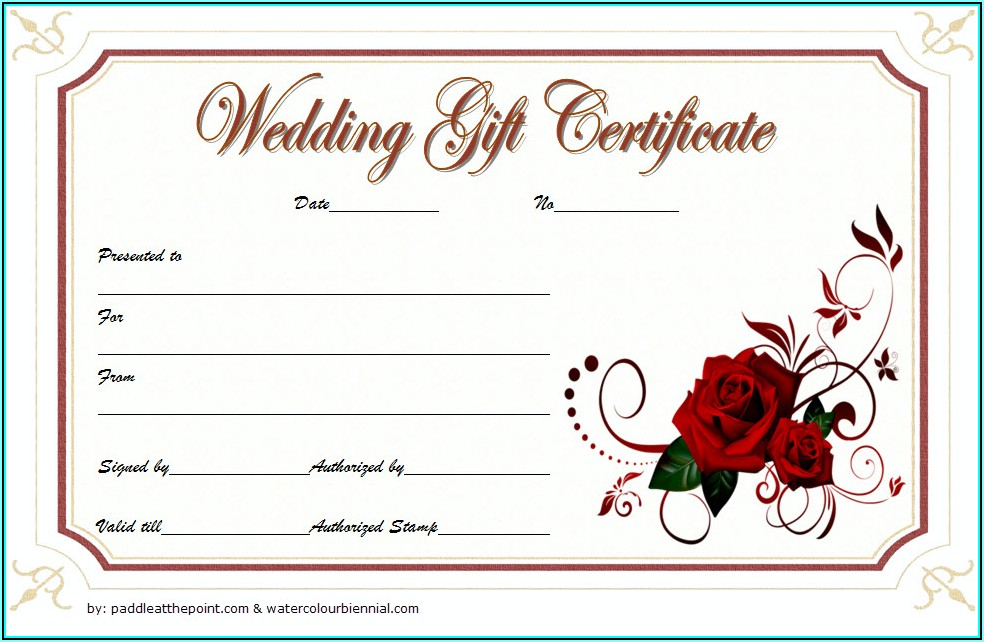 Floral Gift Certificate Template