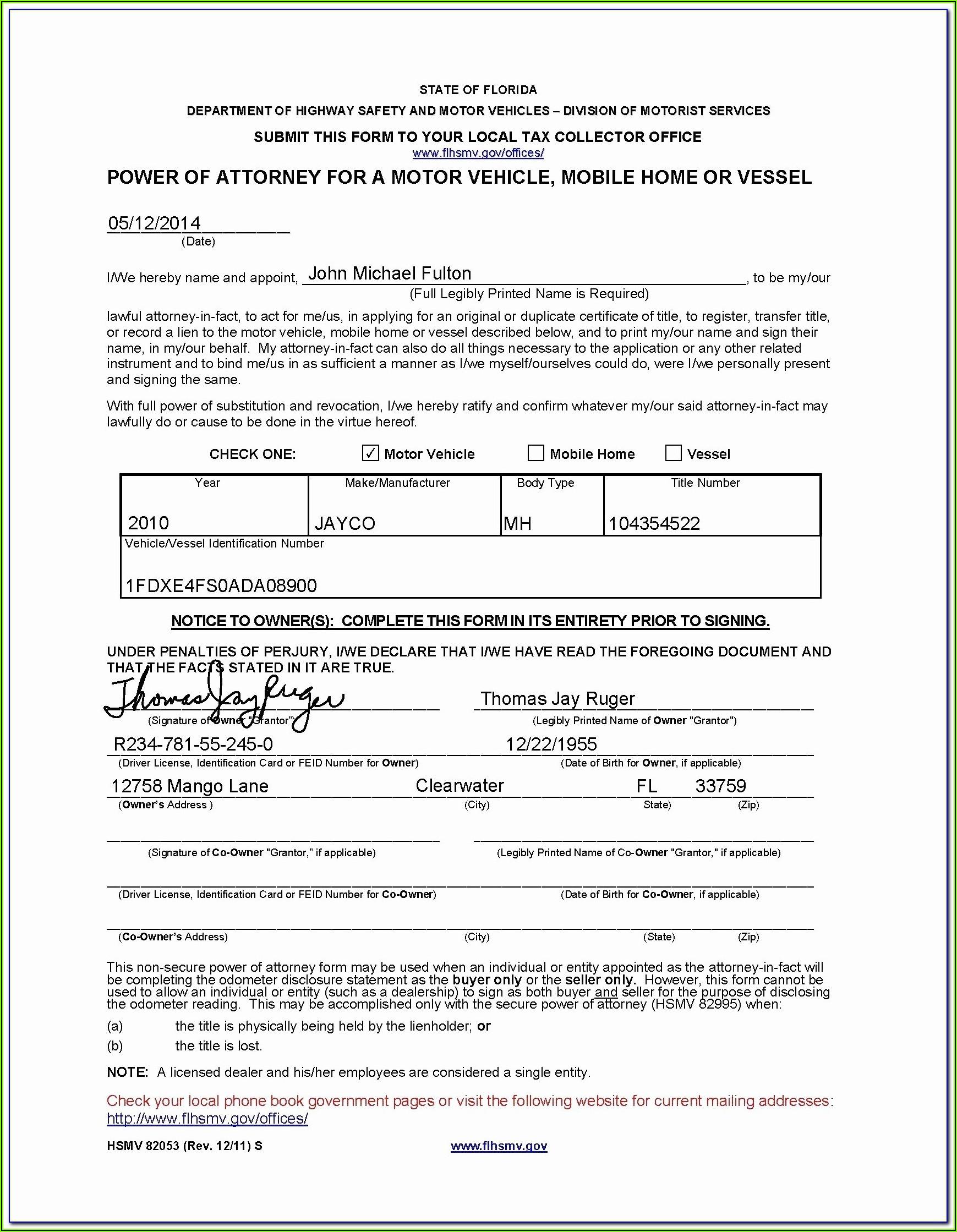Florida Designation Of Health Care Surrogate Form Free