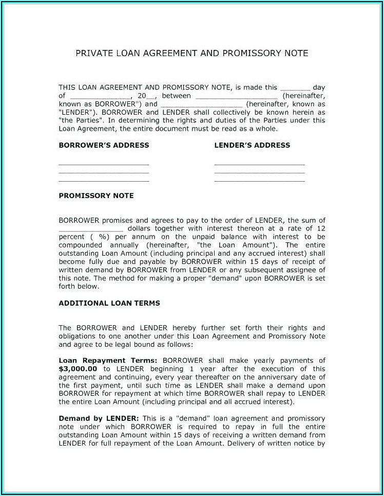 Forgivable Loan Agreement Template