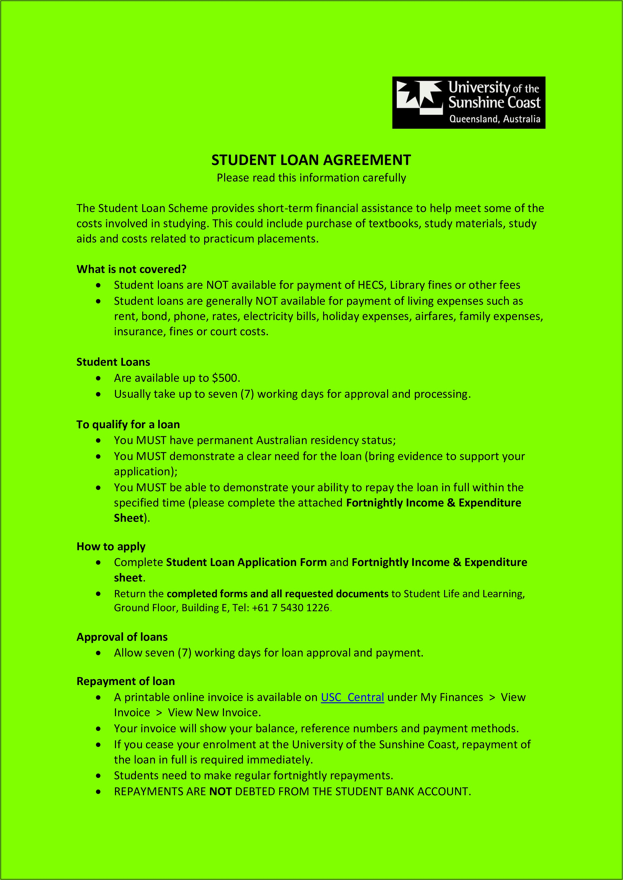 Form For Student Loan Repayment