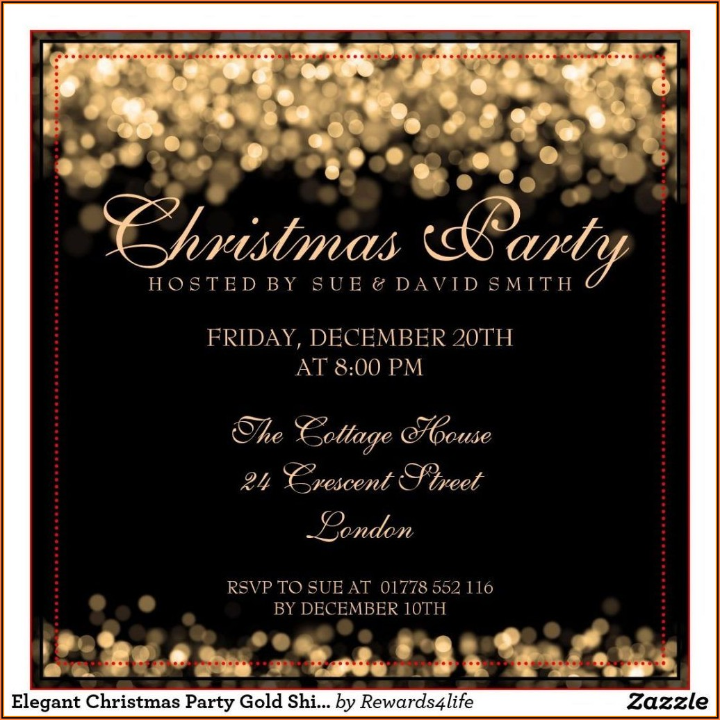 Formal Christmas Party Invitation Templates