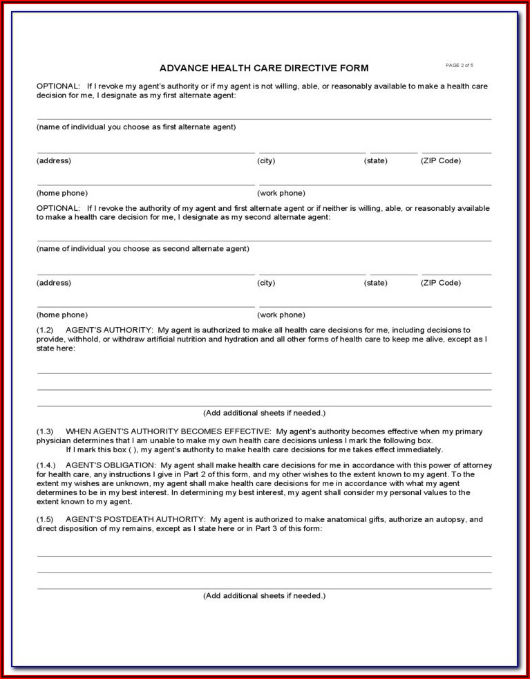 Free Advance Directive Forms Oregon
