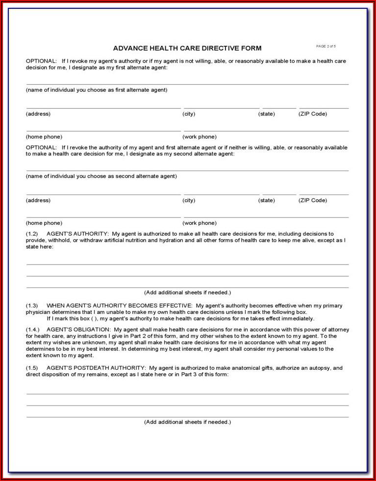 Free Advance Directive Forms Oregon
