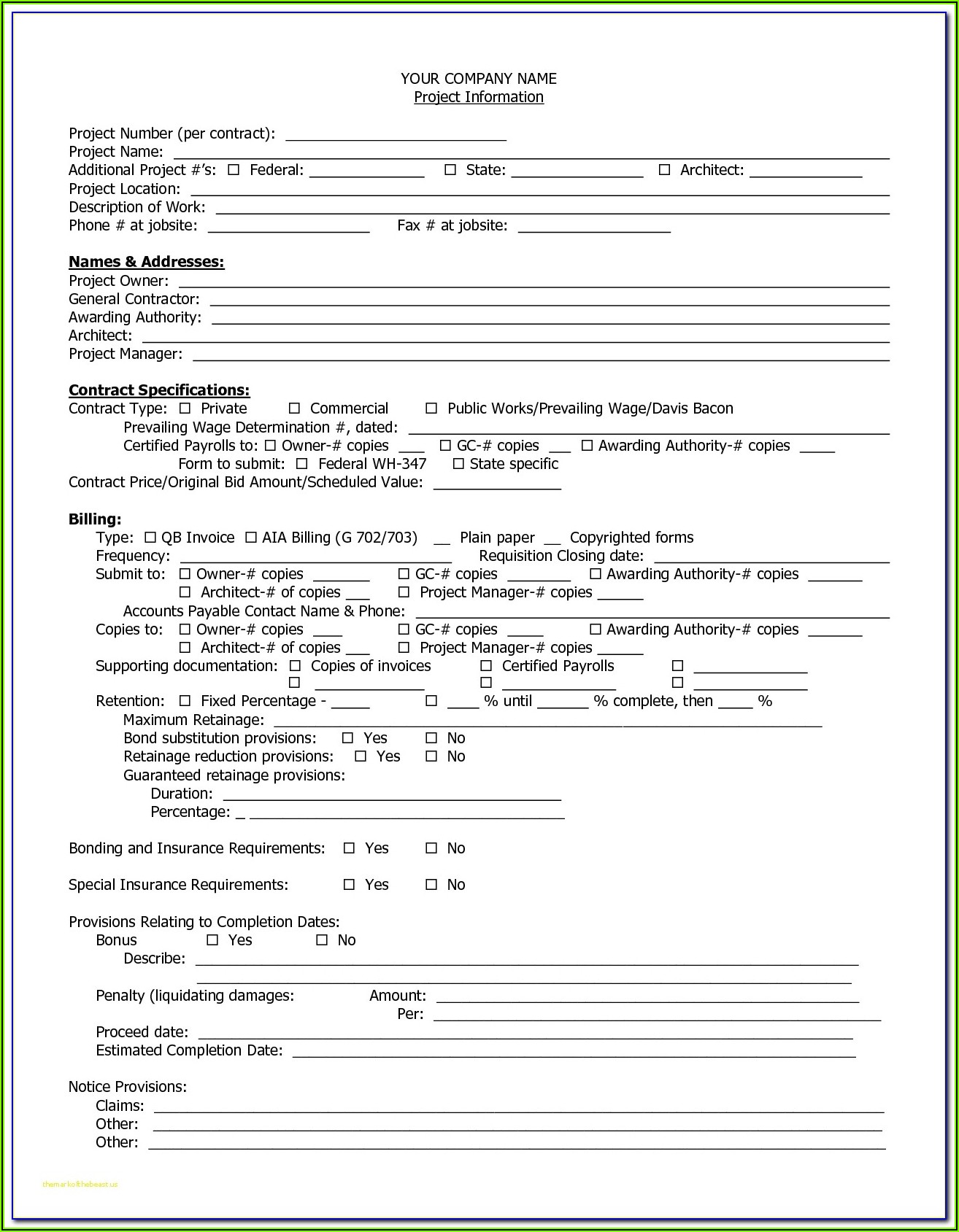Free Aia G704 Form