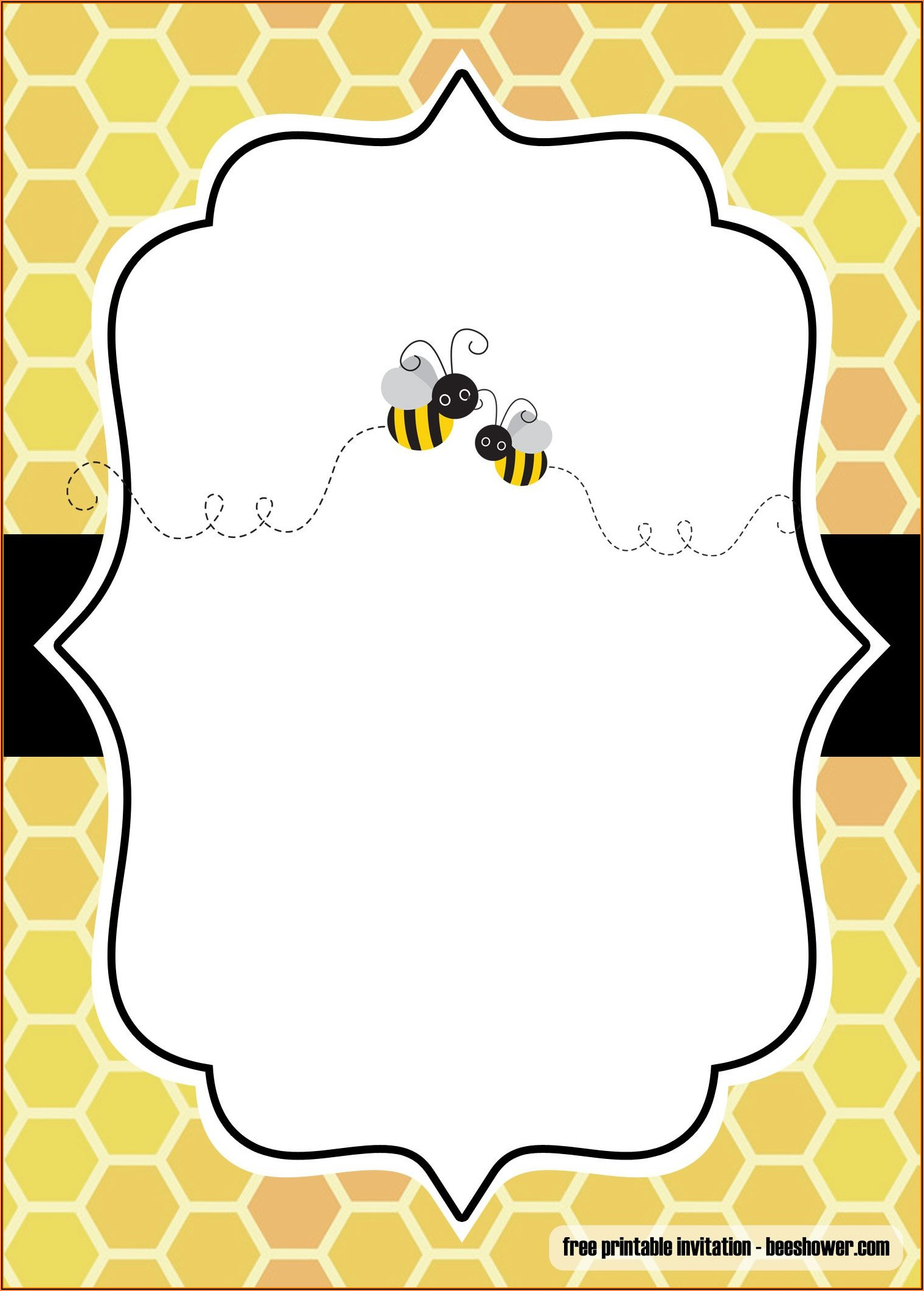 Free Bumble Bee Gender Reveal Invitation Template