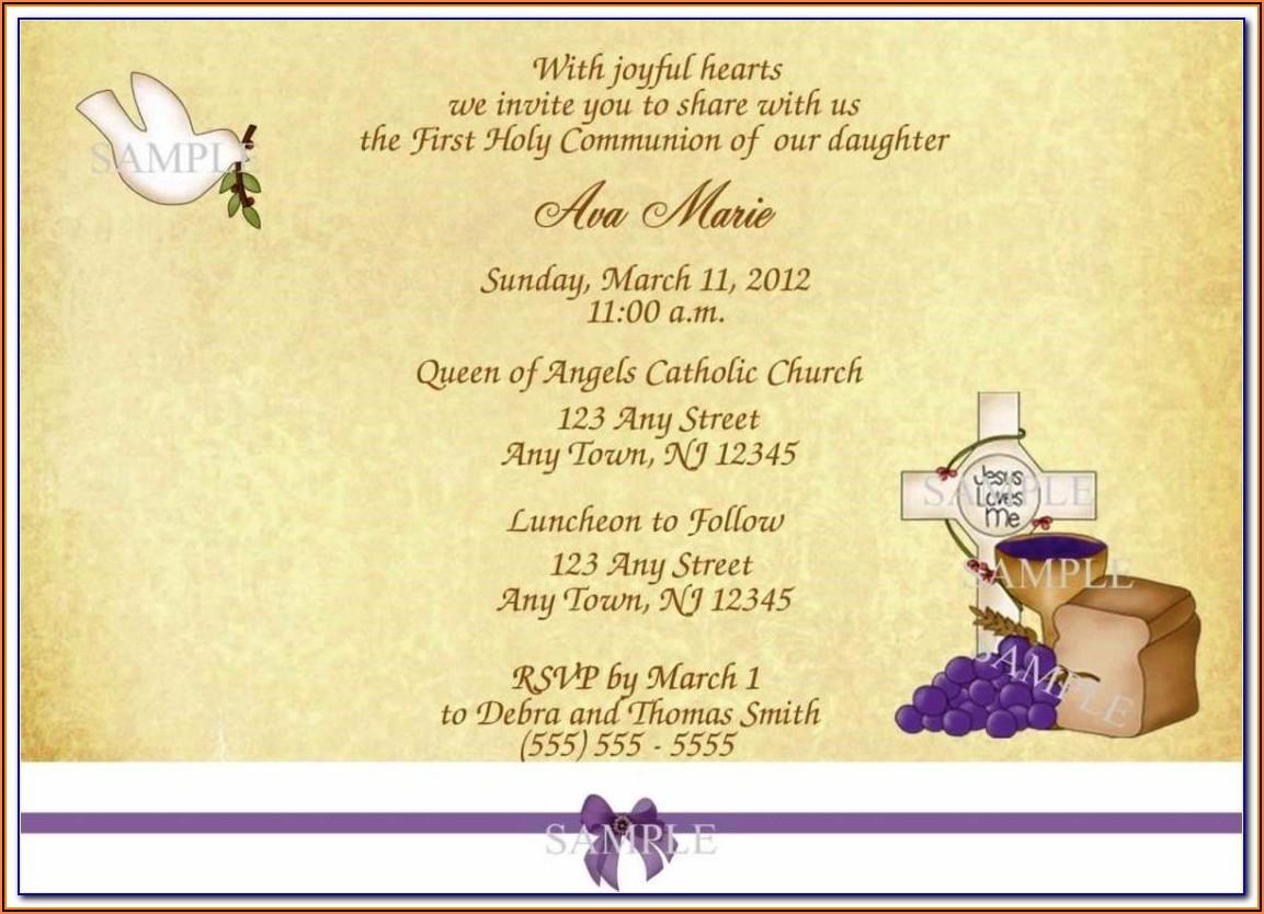 Free Communion Invitation Templates