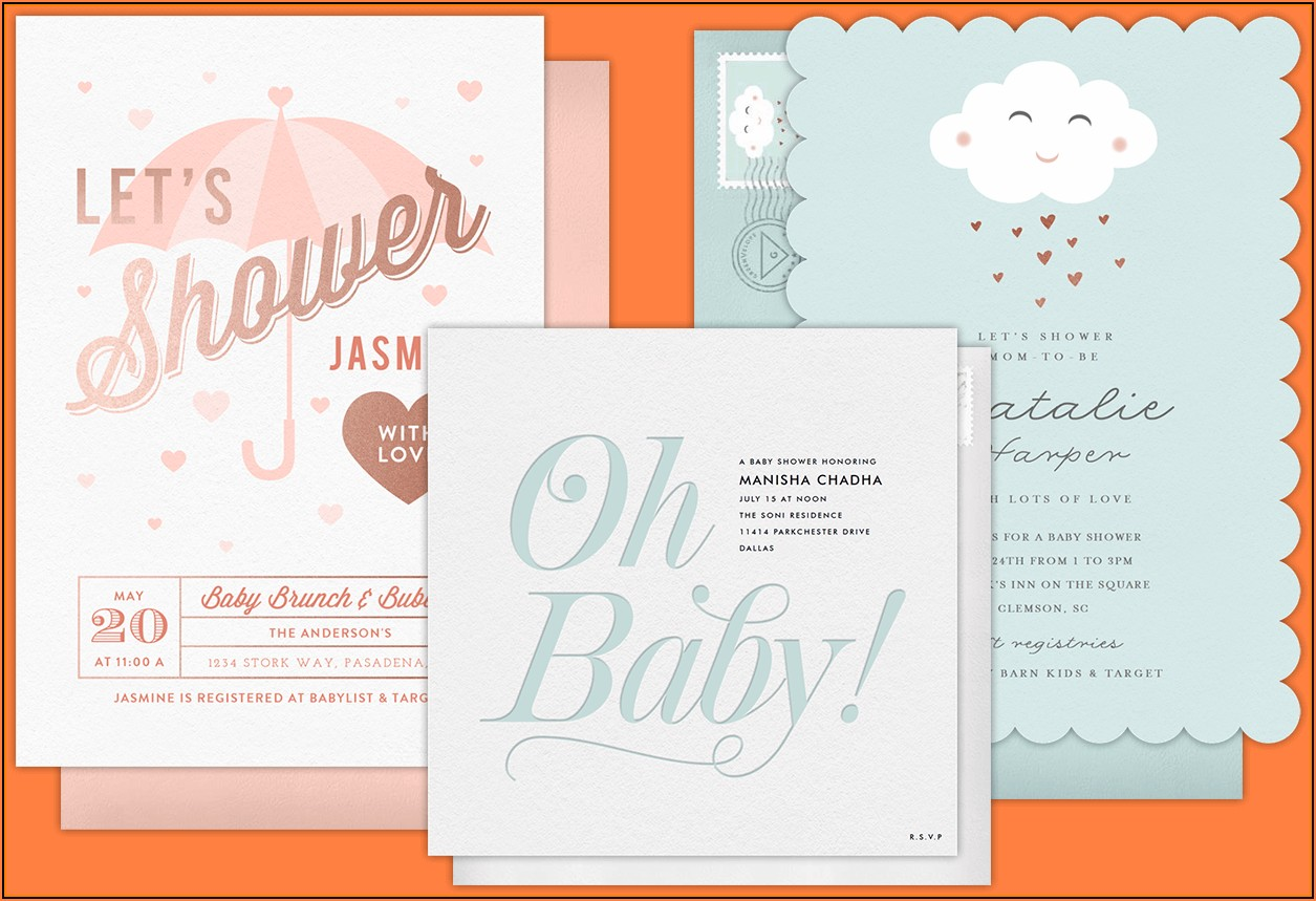 Free Electronic Baby Shower Invitation Templates