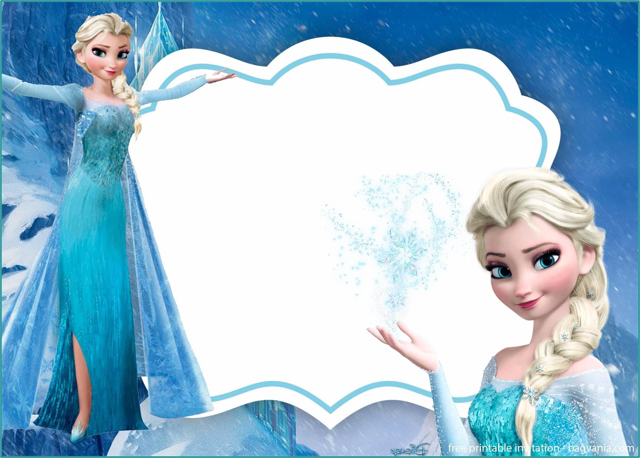 Free Frozen Invitation Template Download