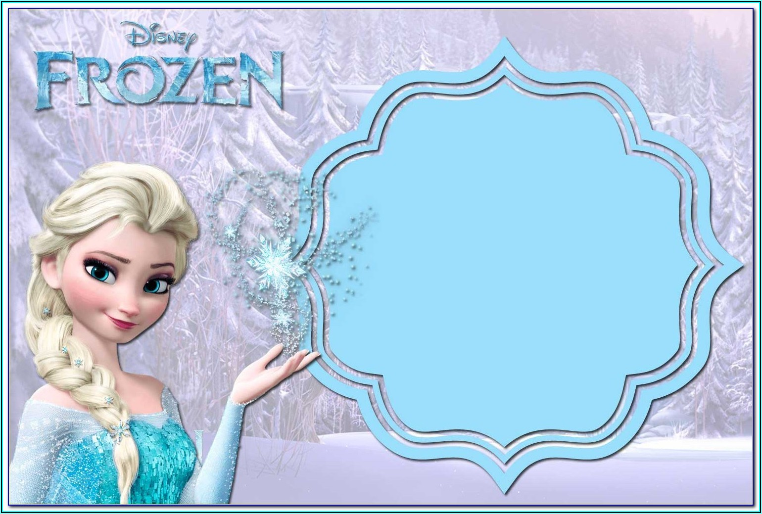Free Frozen Invitation Template Psd