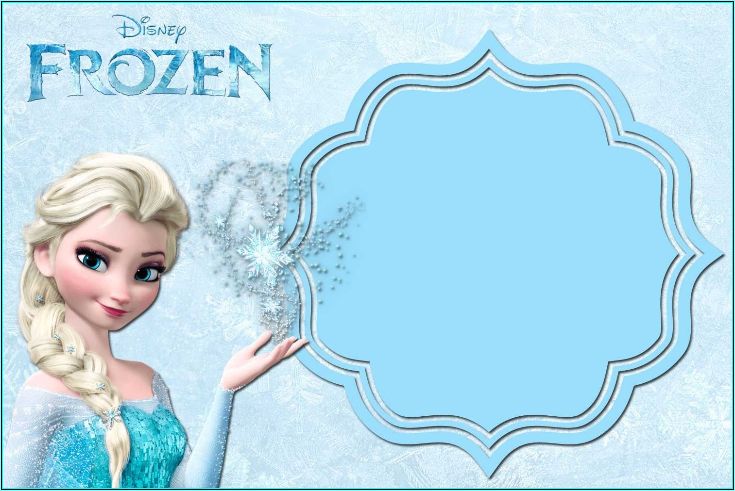 Free Frozen Invitation Templates