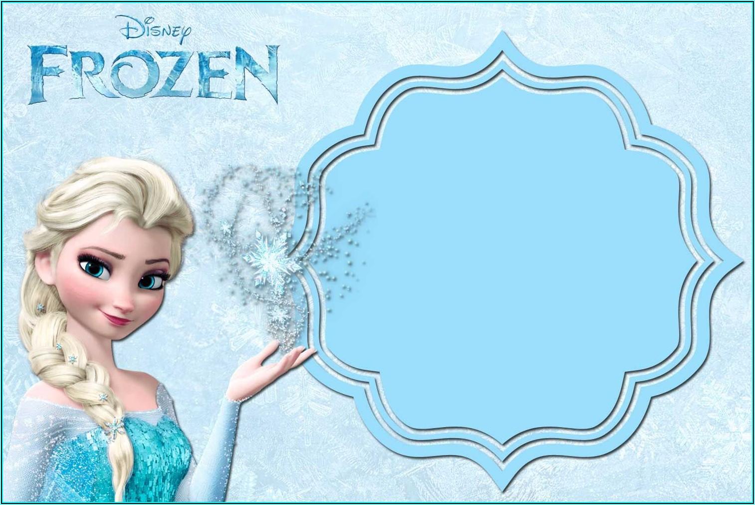 Free Frozen Invitation Templates
