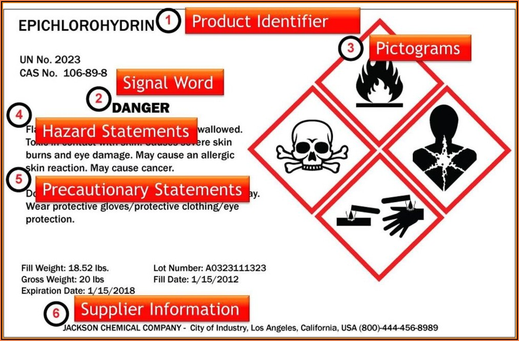 Free Ghs Label Template Word