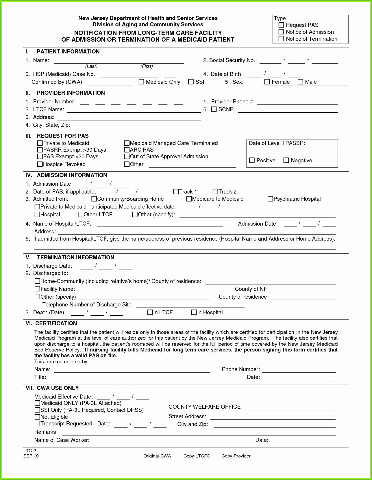 Free Medical Discharge Forms Templates
