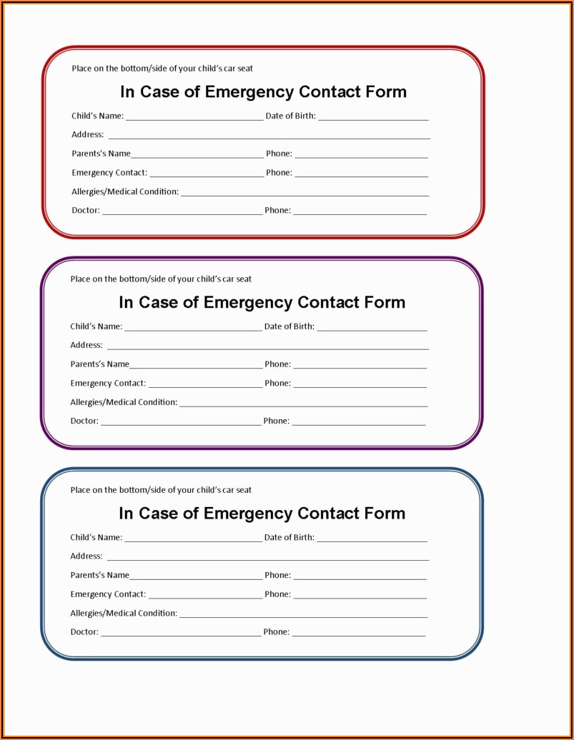 Free Medical Wallet Card Template