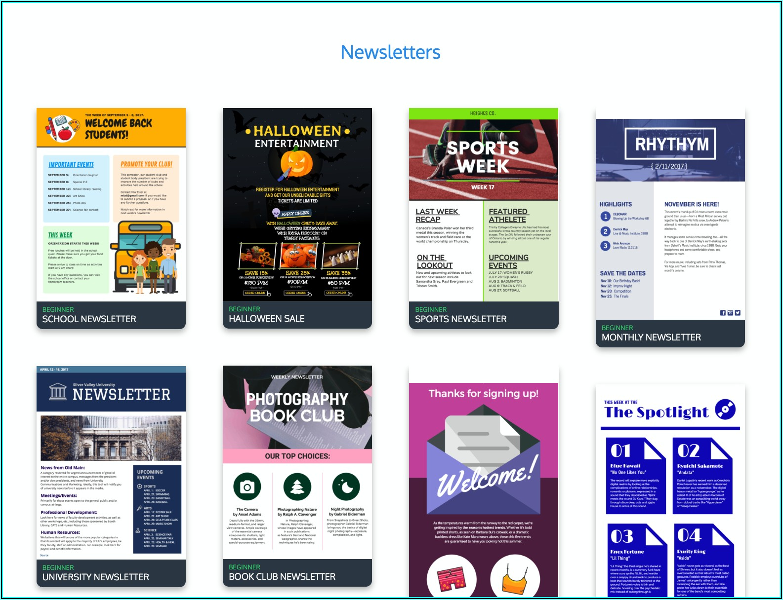 Free Newsletter Template Creator