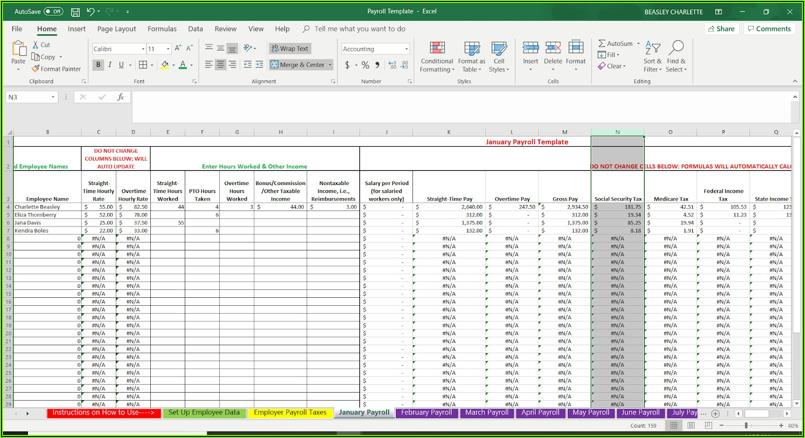 Free Printable Employee Payroll Forms