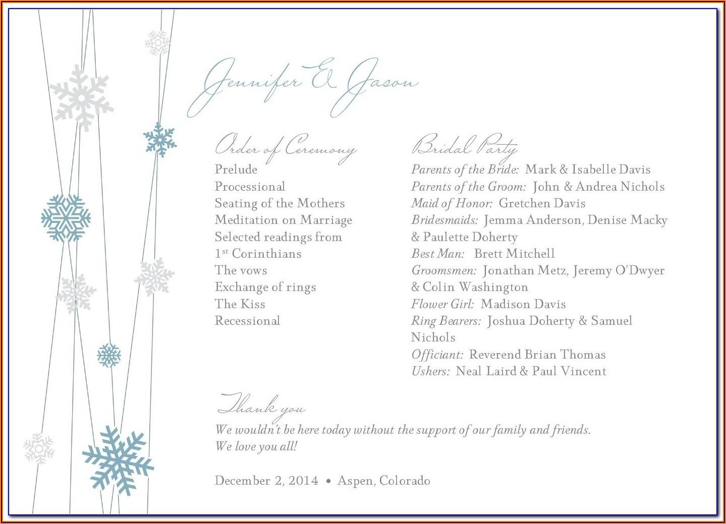 Free Printable Winter Wonderland Invitation Templates