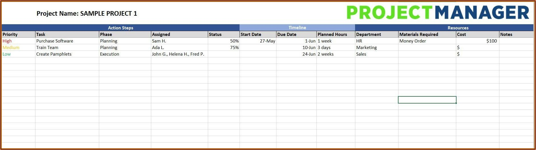 Free Project Implementation Plan Template Excel