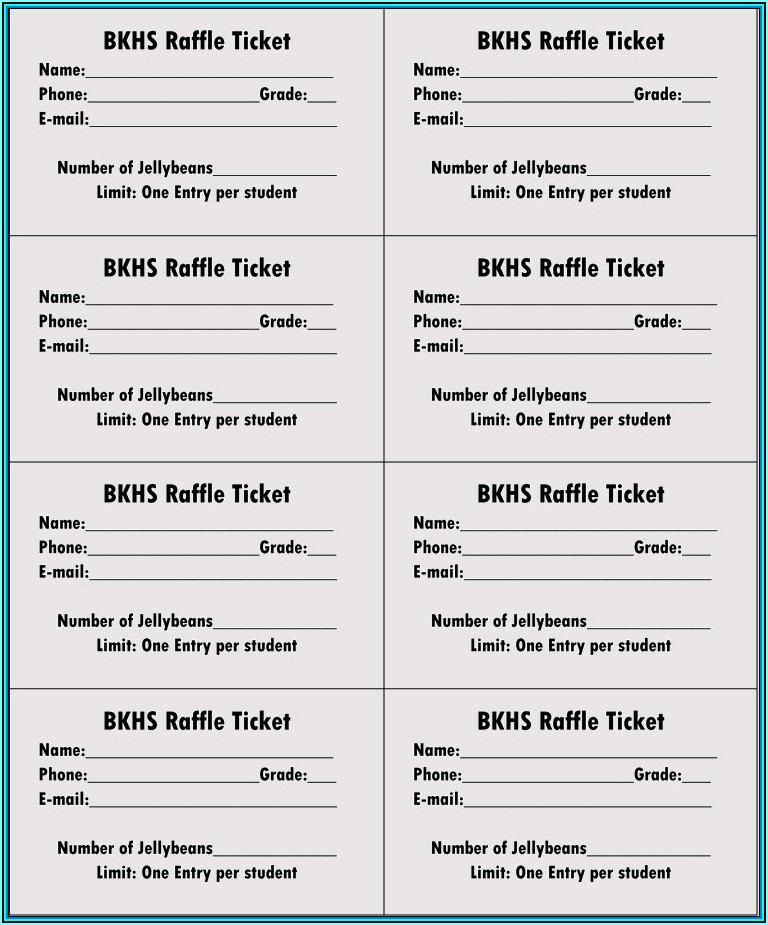 Free Sample Of Raffle Tickets Templates