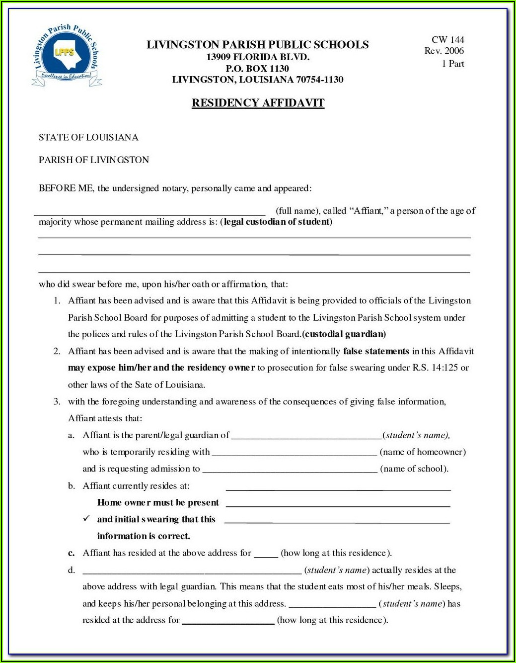 Free Temporary Guardianship Forms Michigan