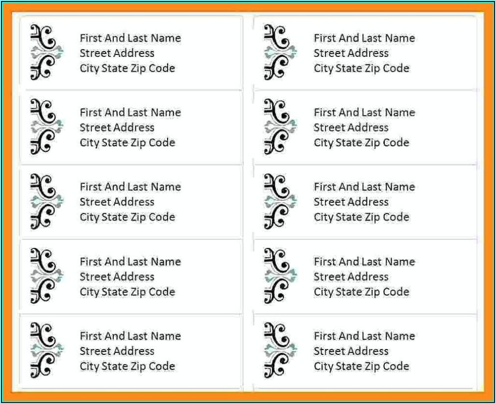 Free Wedding Address Label Templates