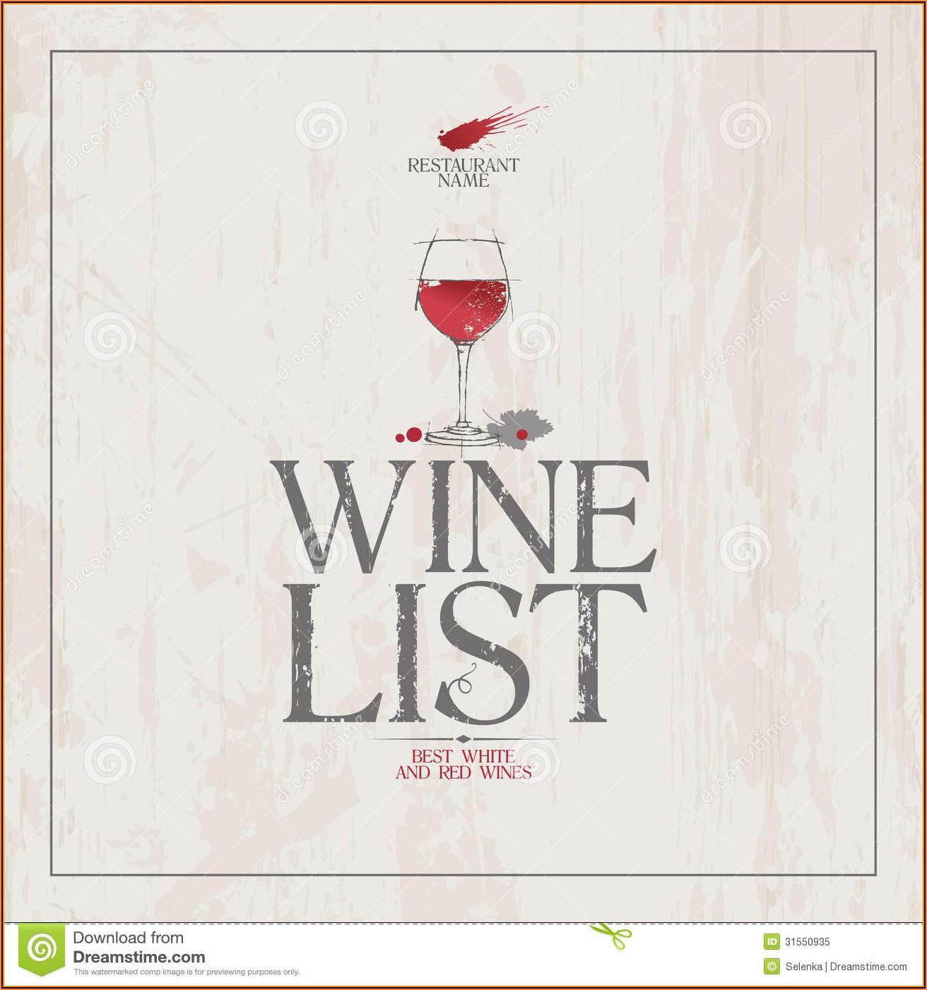 Free Wine Menu Template Downloads