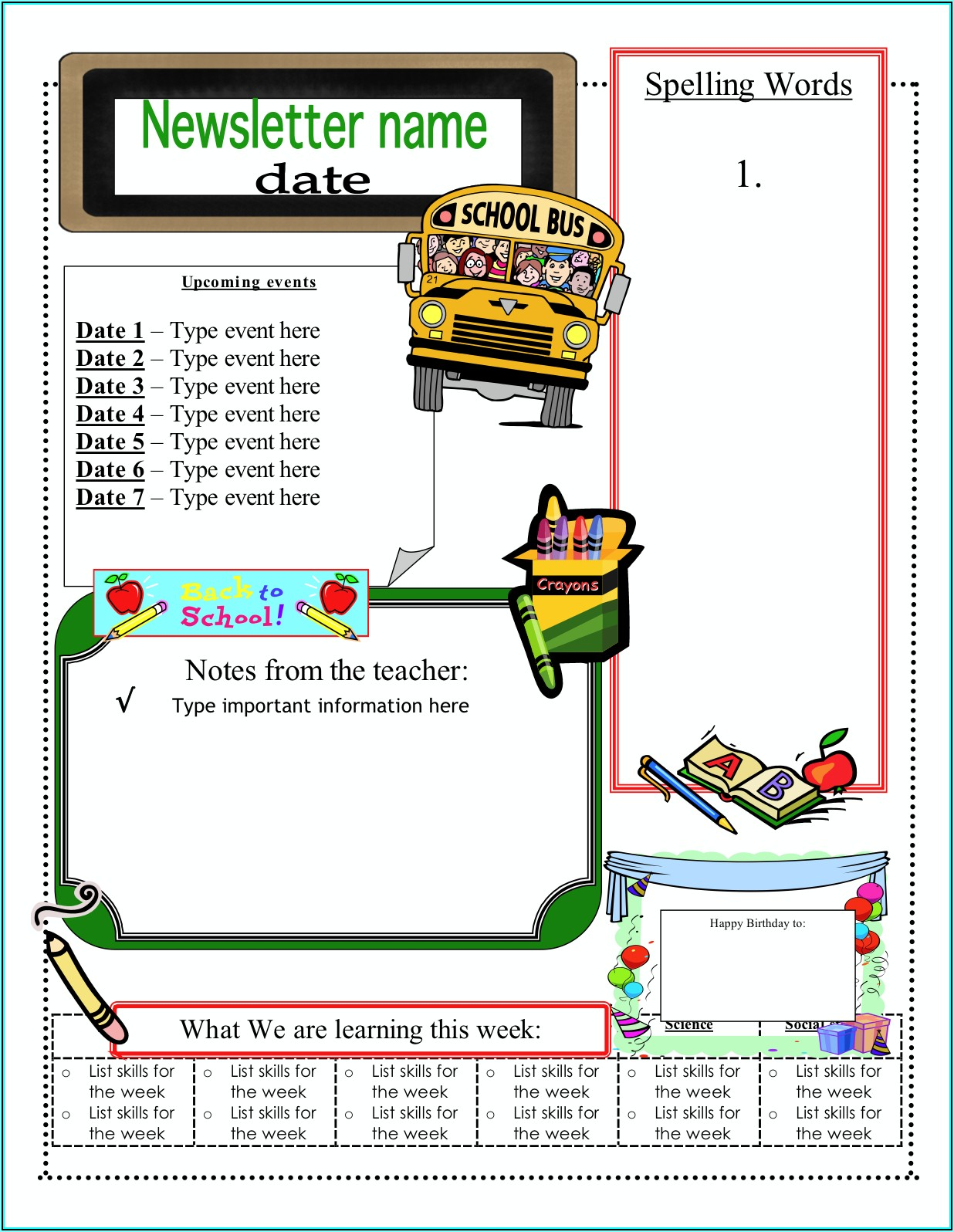 Free Winter Newsletter Templates For Word
