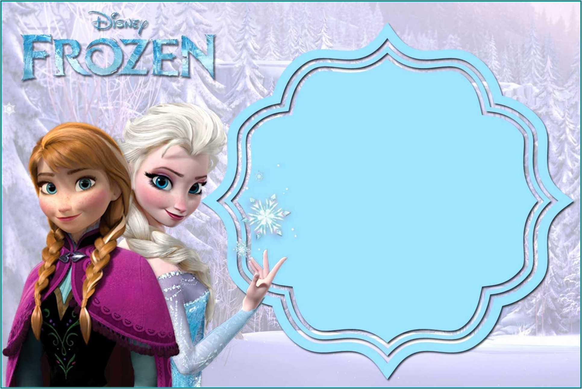 Frozen Invitation Card Free Template