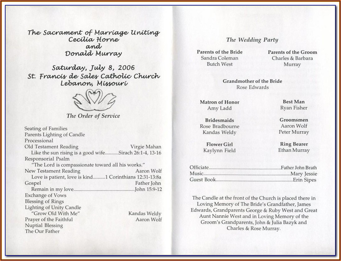 Funeral Programs Templates Software