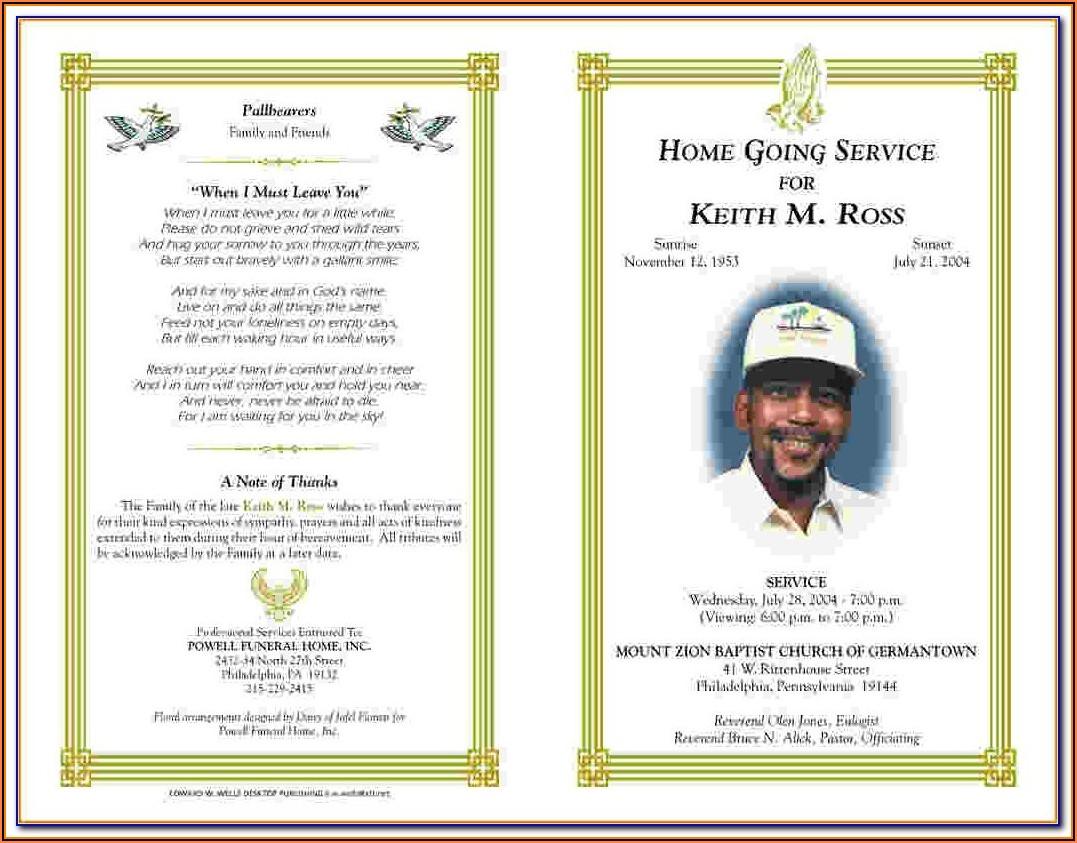 Funeral Service Book Template