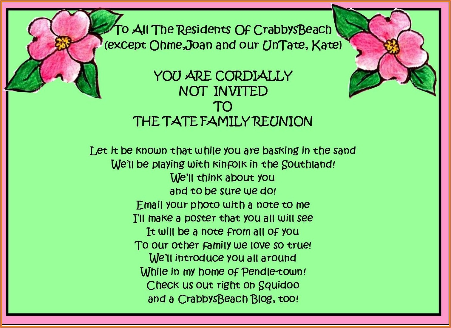 Funny Family Reunion Invitation Template