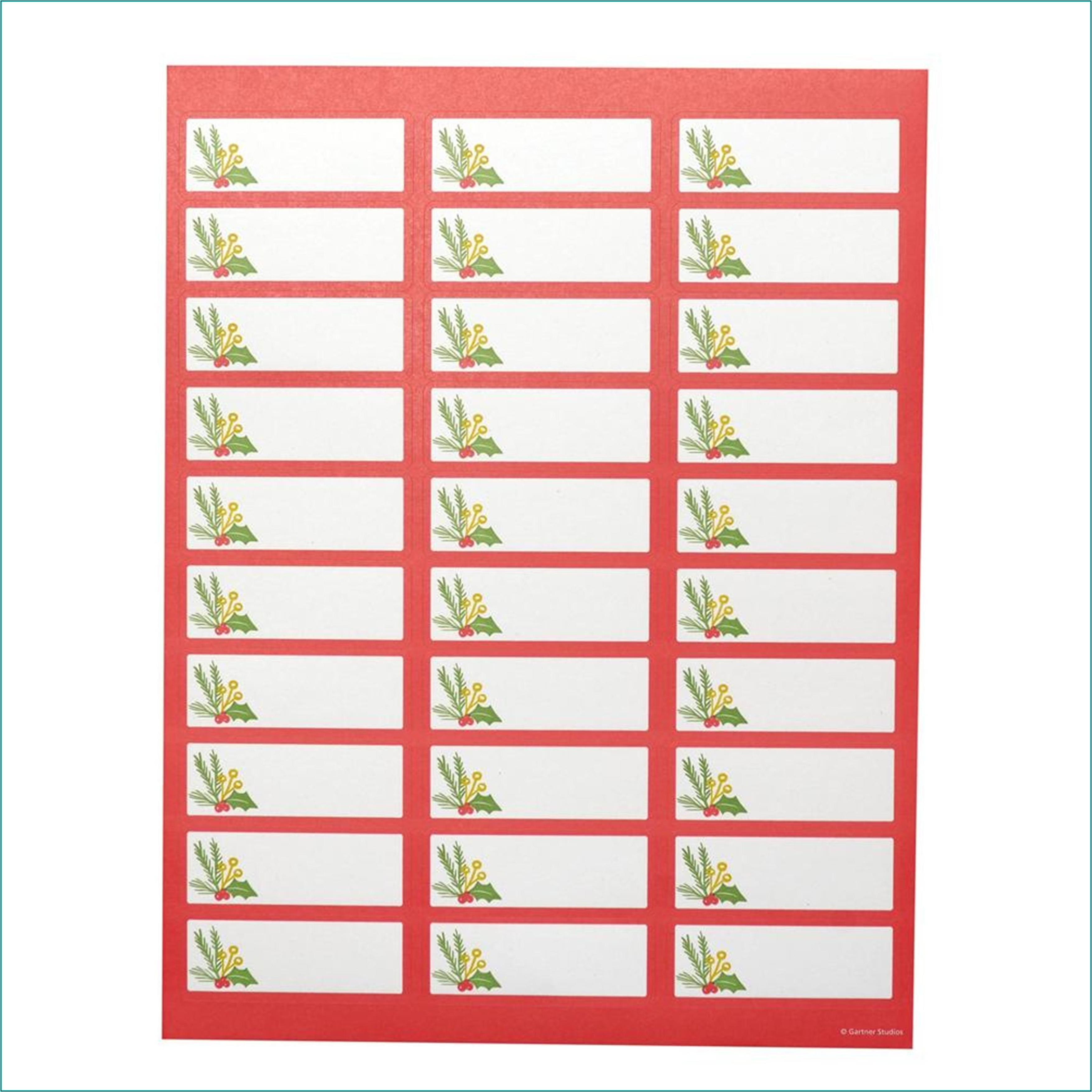 Gartner Address Labels Template