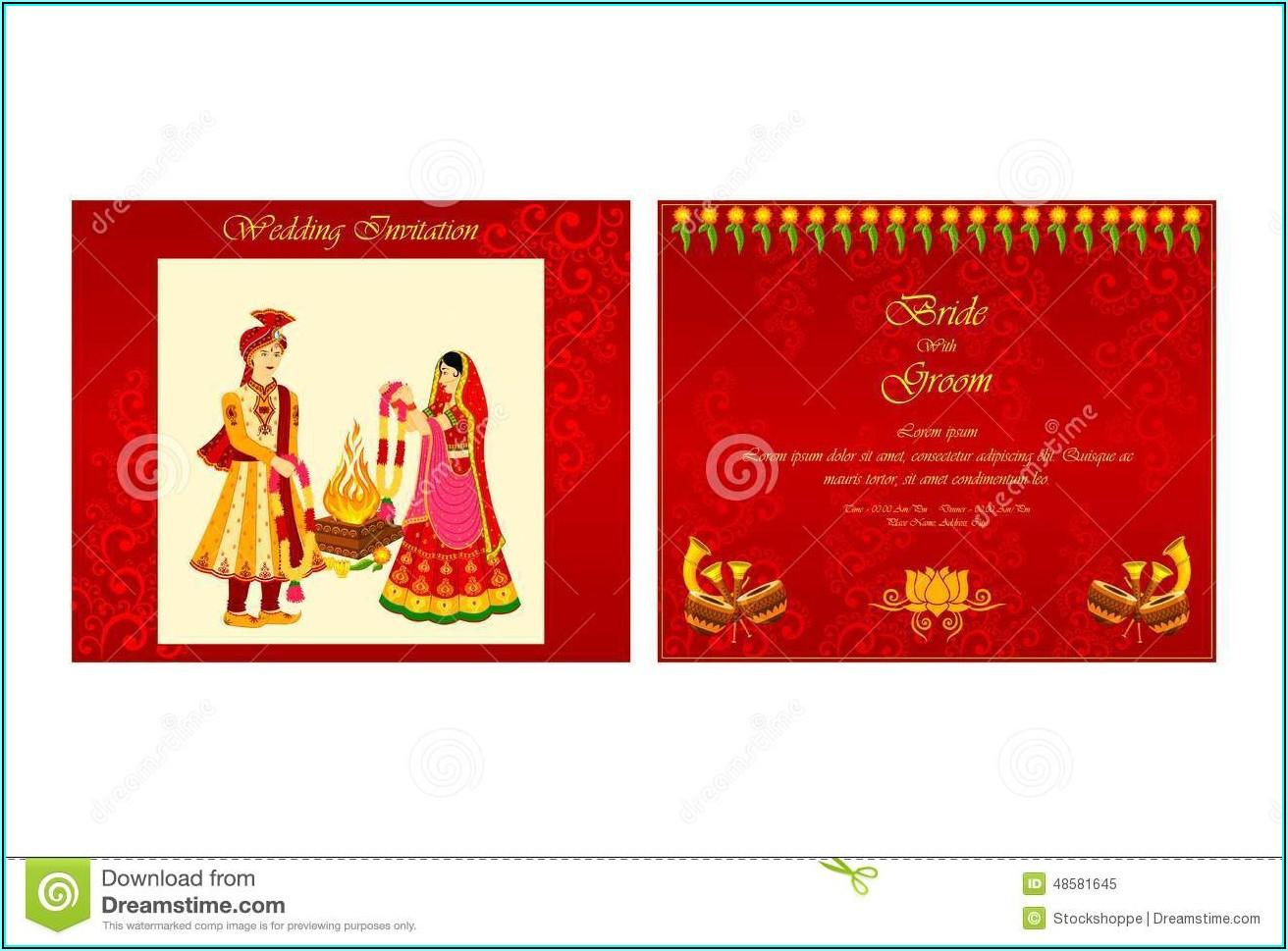 Hindu Marriage Invitation Templates Free Download