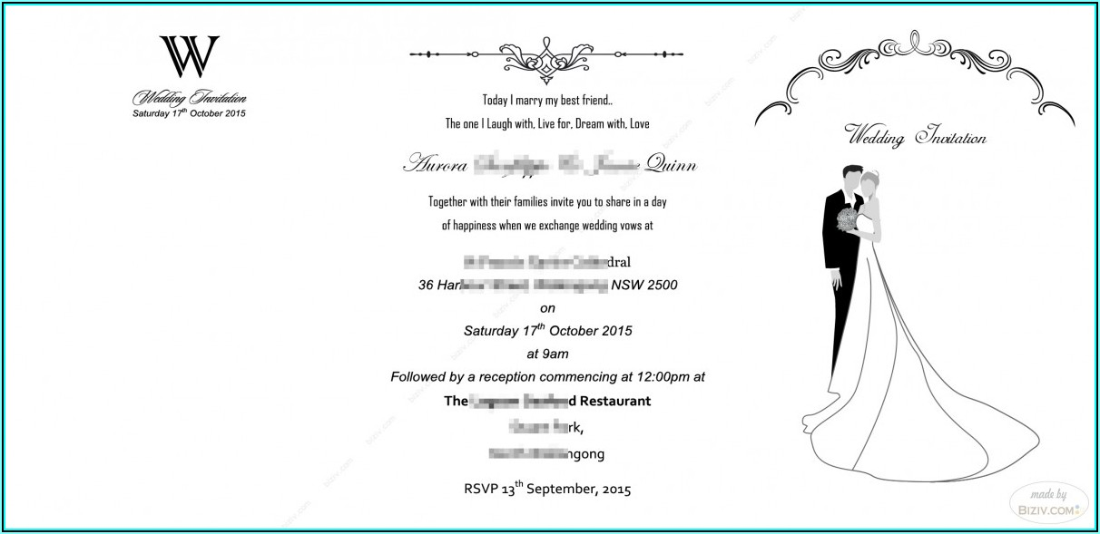 Hindu Wedding Invitation Templates Free Download Word