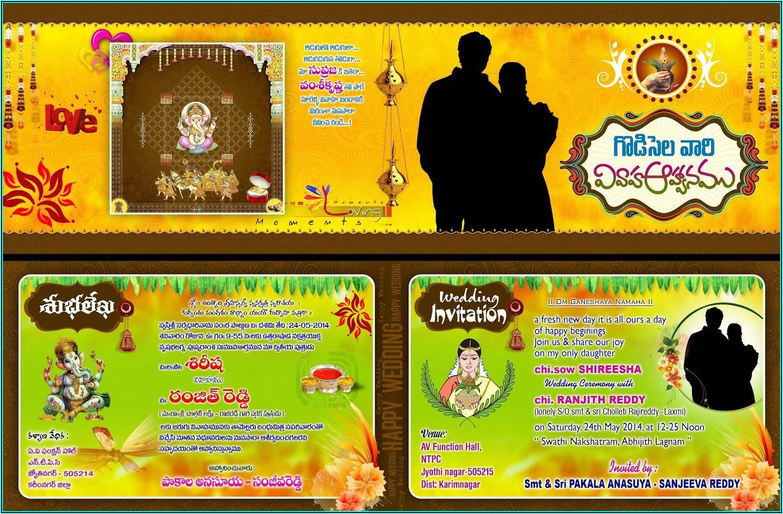 Hindu Wedding Invitation Templates Free