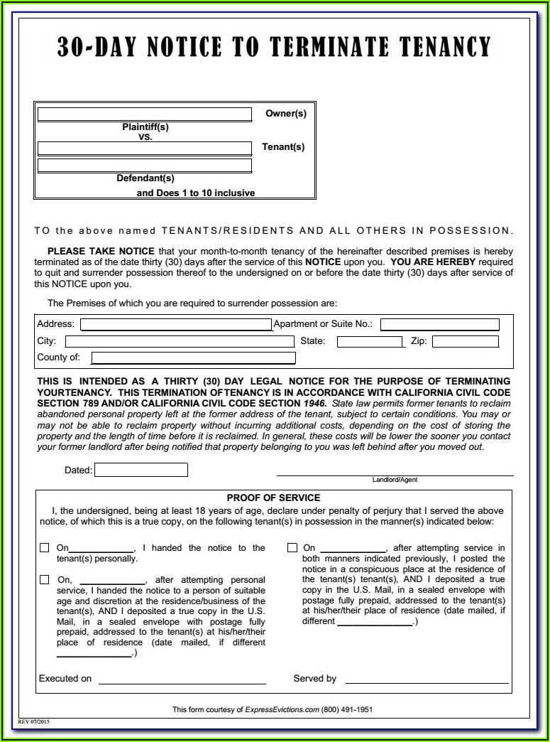 Holdover Tenant Eviction Forms Florida