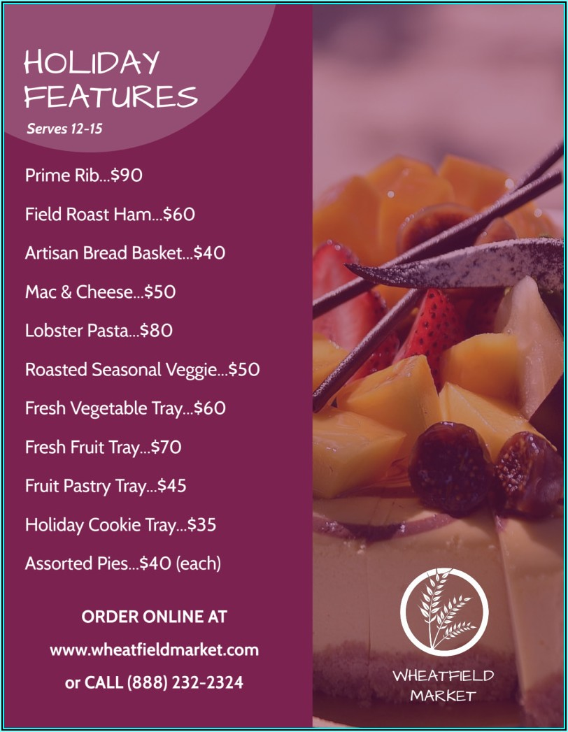 Holiday Catering Flyer Template
