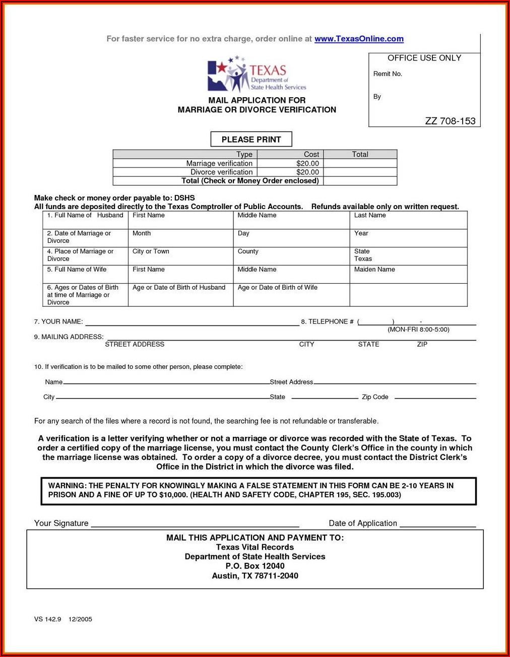 In.gov Divorce Forms