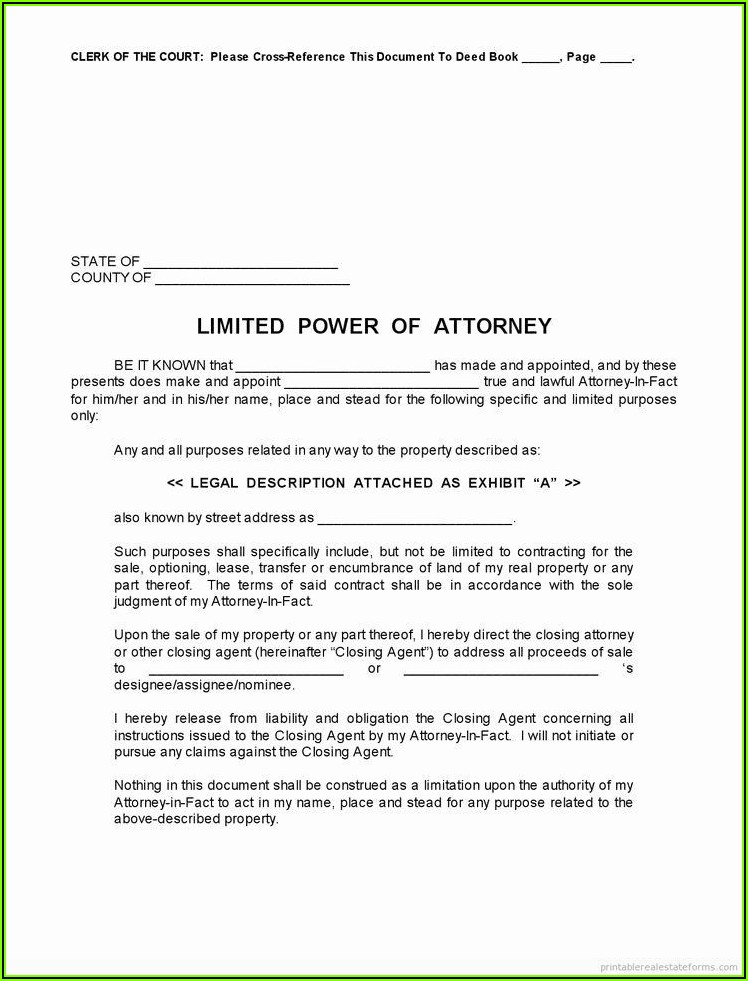 Irrevocable Power Of Attorney Format Pdf