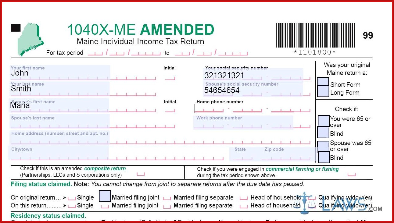 Irs Amended Filing Status