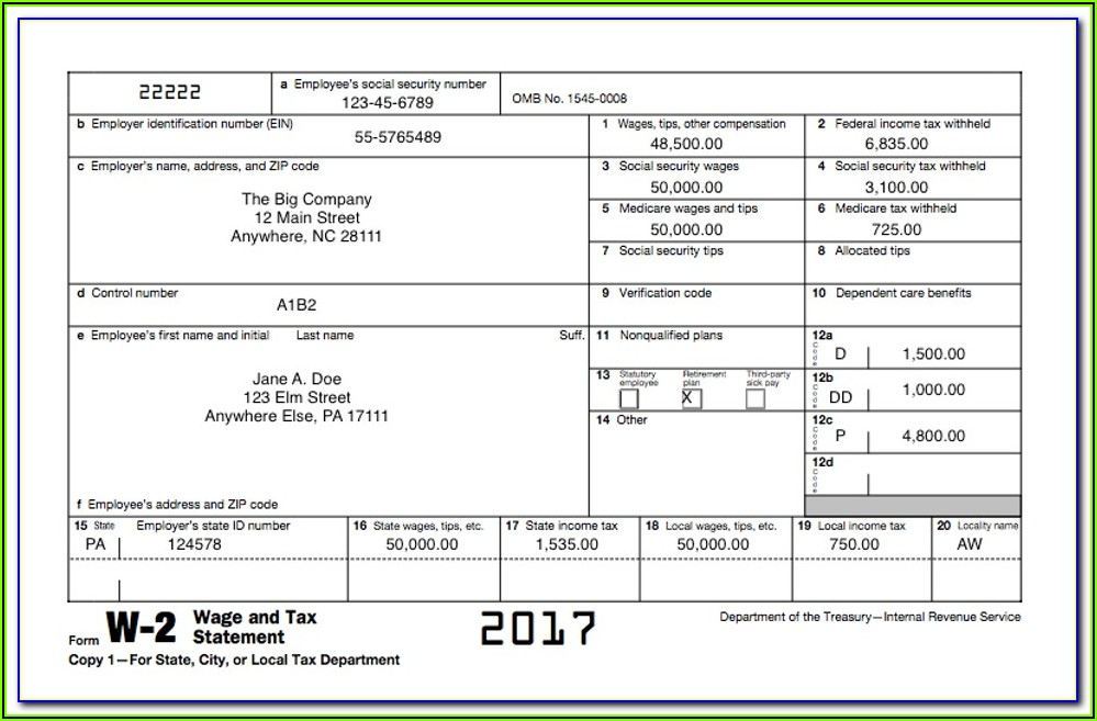 Irs W2 Form 2019 Request