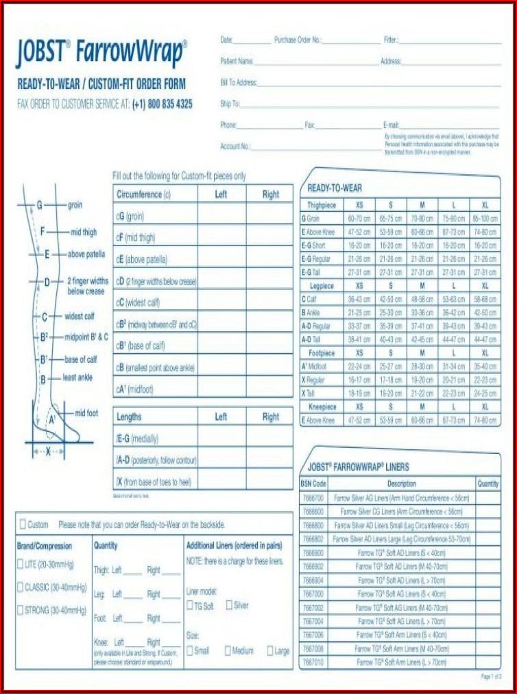 Jobst Farrowwrap Lite Order Form