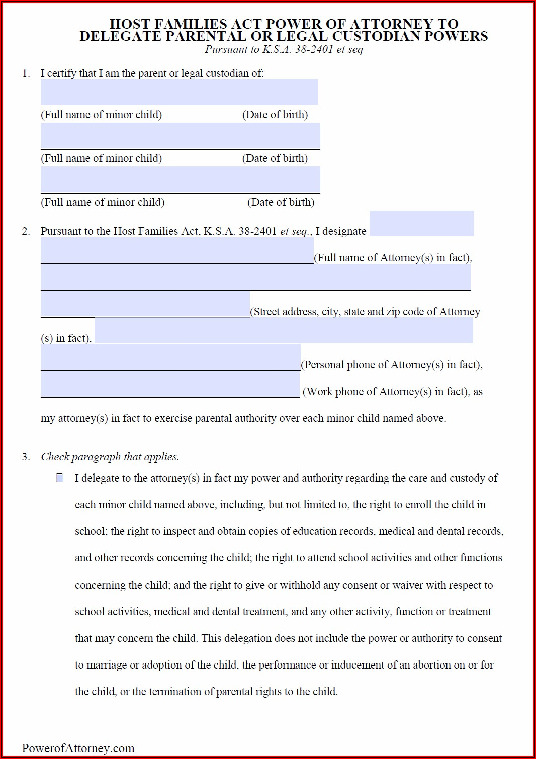 Kansas Medical Durable Power Of Attorney Form