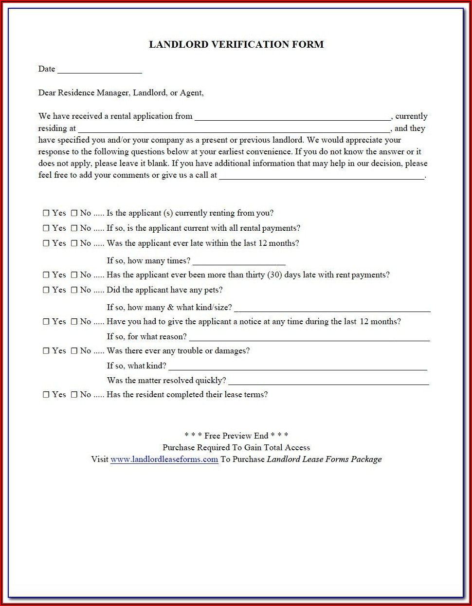 Landlord Tenancy Forms