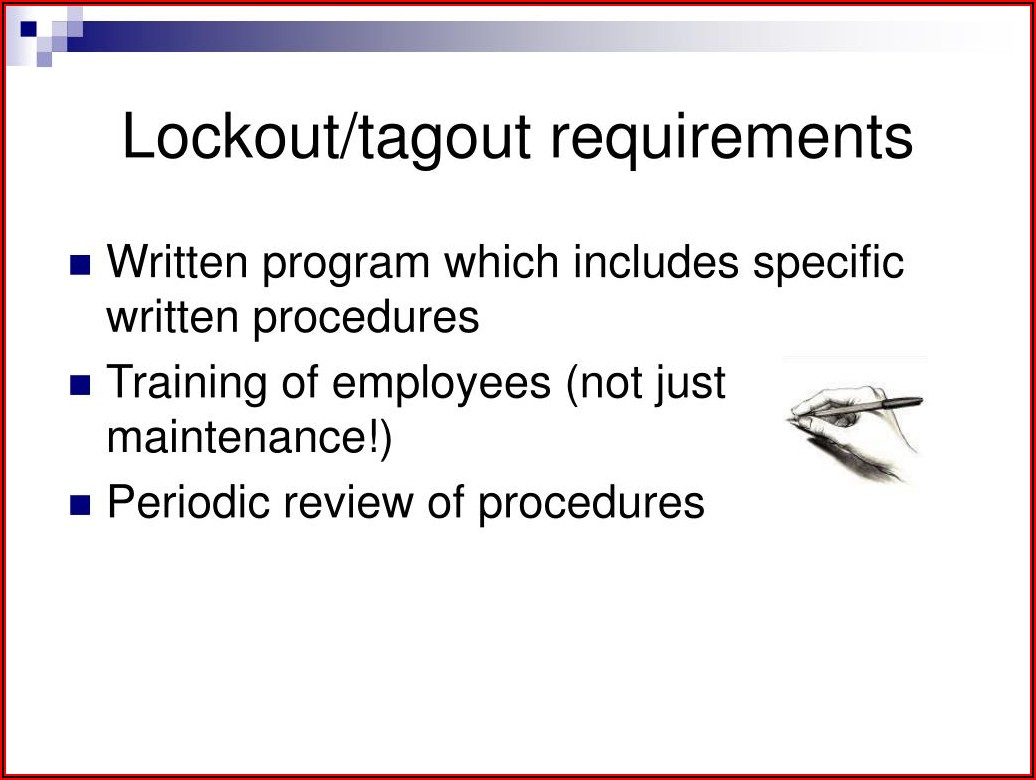 Lockout Tagout Procedures Powerpoint