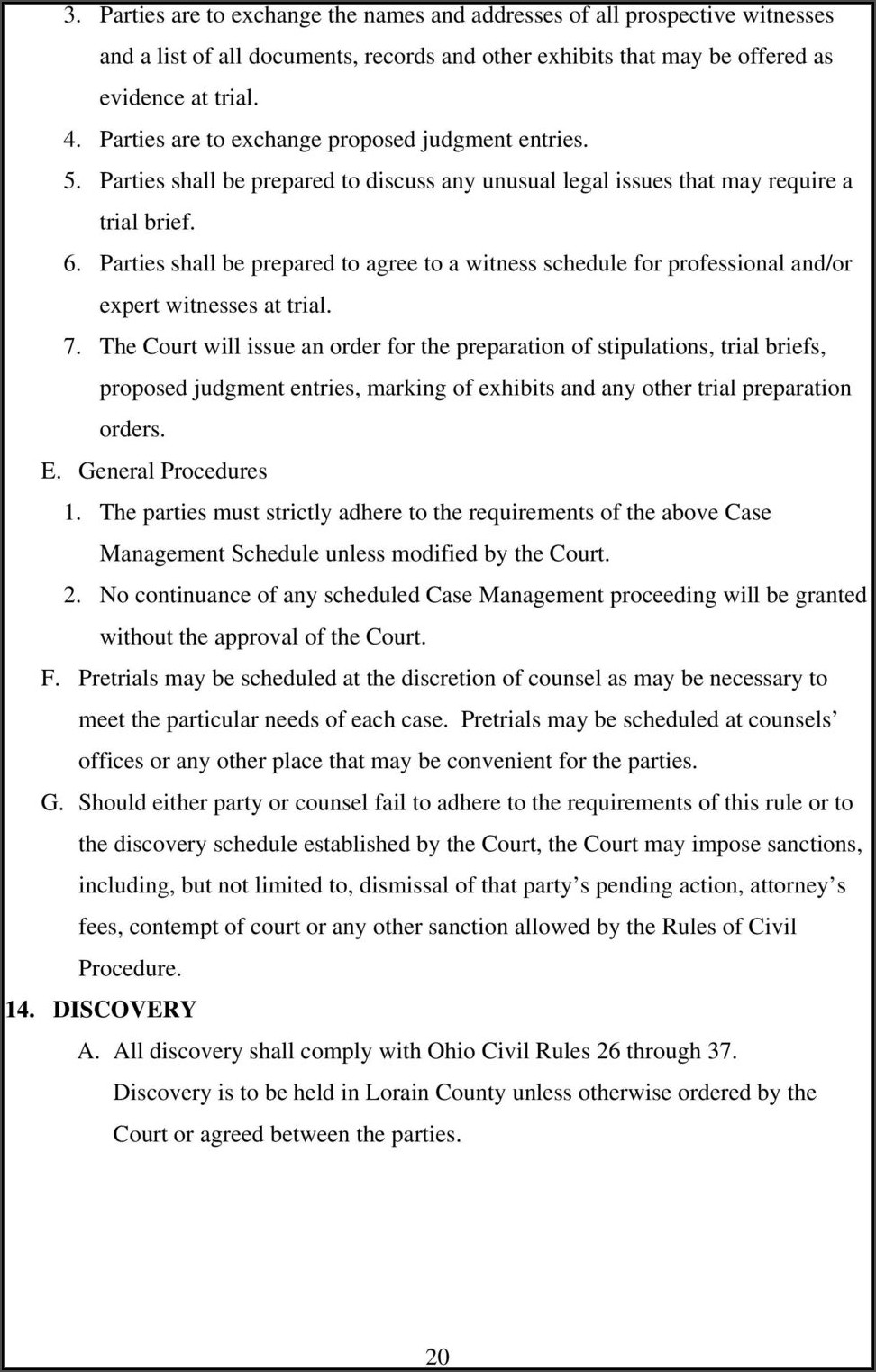Lorain County Court Forms