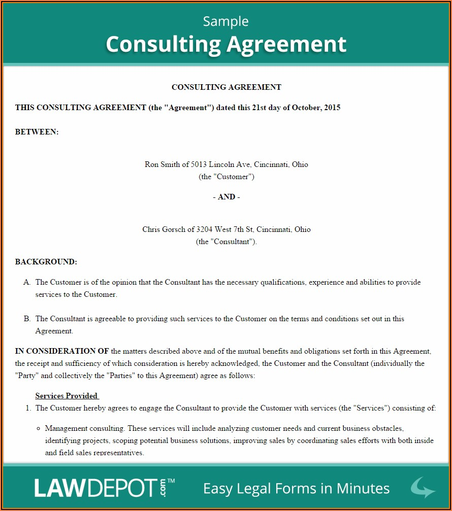 Marketing Consultant Agreement Template